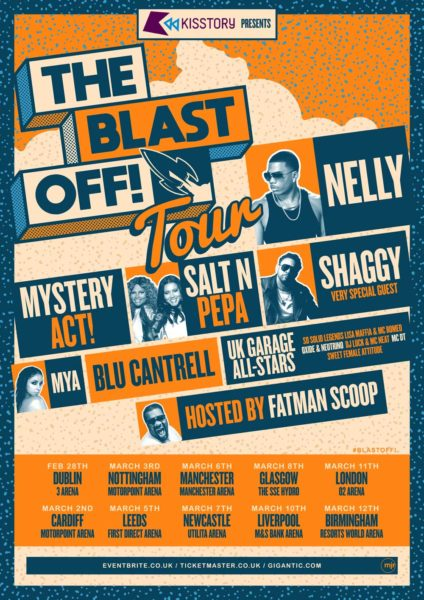 Fatman Scoop hosts Nelly, Shaggy, Salt N Pepa, Blu Cantrell and more on The Blast Off! Tour 2020