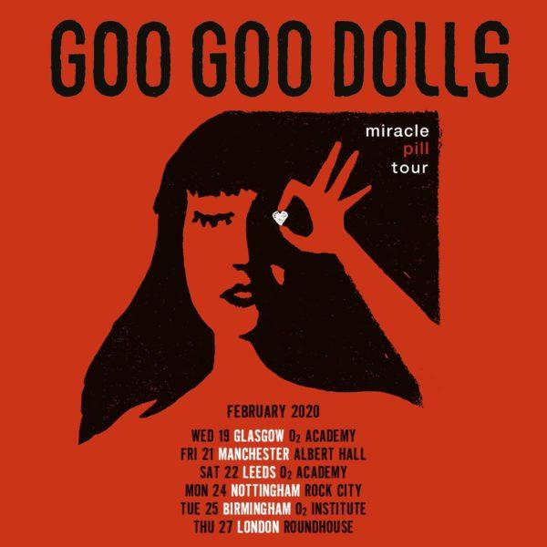 GOO GOO DOLLS CONFIRM UK TOUR FOR FEBRUARY 2020
